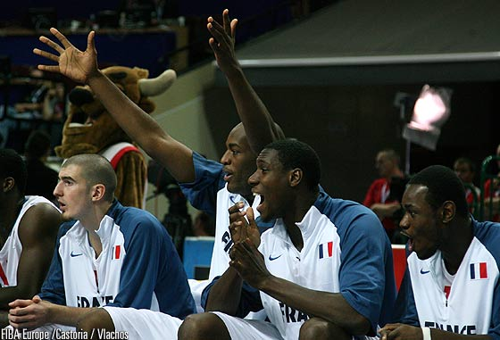 8. Ian Mahinmi (France), 10. Yannick Bokolo (France), 11. Florent Pietrus (France), 12. Nando De Colo (France)