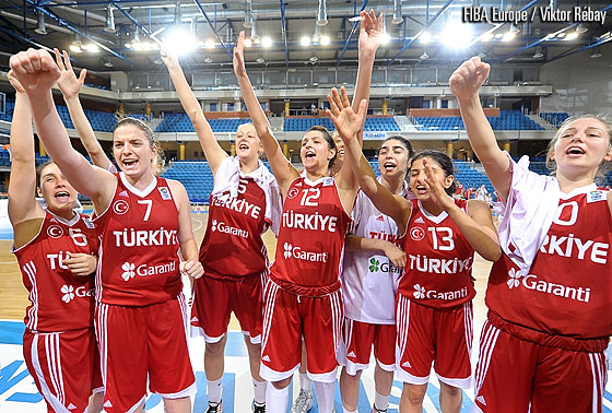 Turkey celebrate their sixth consecutive victory