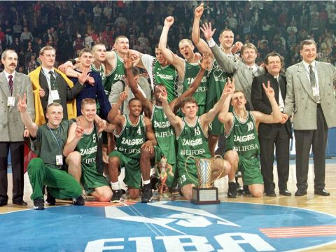 Zalgiris Kaunas 1999 EuroLeague Final Four Champions
