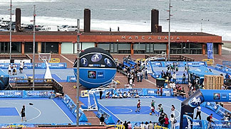 The 3on3 Gran Canaria Tour master final is played right by the sea