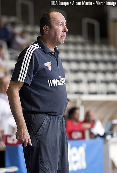 Moldova head coach Oleg Dical