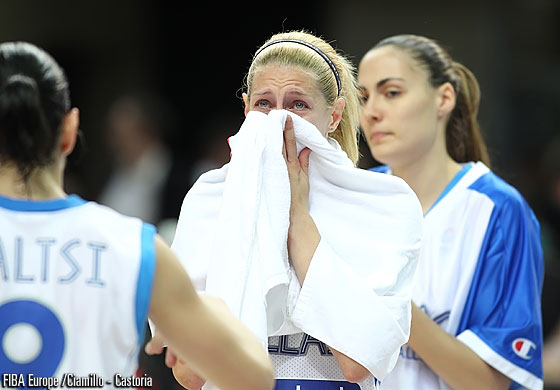 Aikaterina Sortirou was desperate after her team's elimination from EuroBasket Women