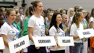 Opening ceremony of the G4S U16 European Championship Women Division B