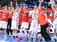 The Turkish bench reacts to their over-time victory against Russia