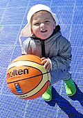 Even the smallest are into basketball in Lithuania