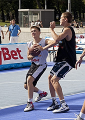 Some game action during 3x3 EuroTour in Tallinn