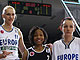 Rebekkah Brunson, Maria Stepanova, Grace Daley, Laia Palau and Vicki Johnson at the EuroLeaue Women All-Star Game