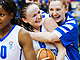 8. Evgeniya Finogentova after her game-winning shot for Dynamo Novosibirsk