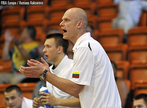 Lithuania head coach Saulius Stombergas