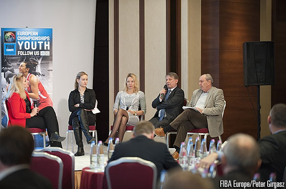 The panel discussion at the FIBA Europe Youth Forum