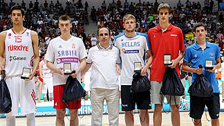 All-Tournament Team: Egemen Güven, Stefan Lazarevic, Vasileios Charalampopoulos, Dragan Bender, Federico Mussini