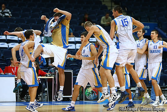 Ukraine celebrating their victory