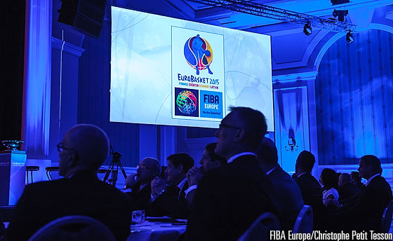 Presentation of the official EuroBasket 2015 logo
