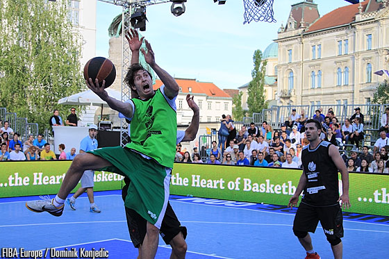 Game action in the senior competition in Ljubljana