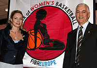 Ilona Korstin (left) and FIBA Europe Secretary General Nar Zanolin at the launch of the Year of Womens Basketball