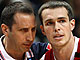 Russia Head Coach David Blatt with Sergey Bykov