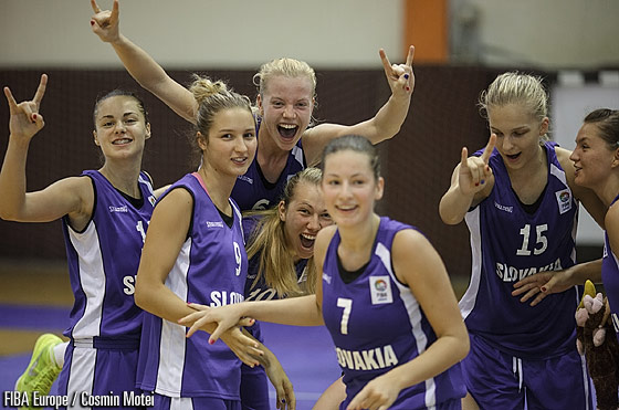 Slovak Republic players celebrating their victory