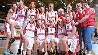 Russia after their Quarter-Final victory over the Czech Republic