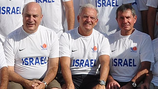 Participants of the 2012-13 pre-season clinic for basketball referees in Israels first division