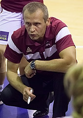 Latvia head coach Ainars Cukste