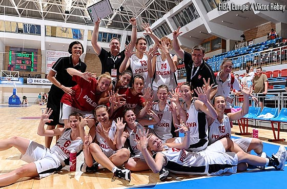Poland celebrating their win
