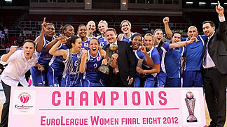 The EuroLeague Women 2012 Champions Ros Casares