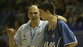 Michail Giannakidis and Coach Giannis Giannapoulos (Greece)
