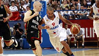 9. Tony Parker (France), 8. Lionel Bosco (Belgium)