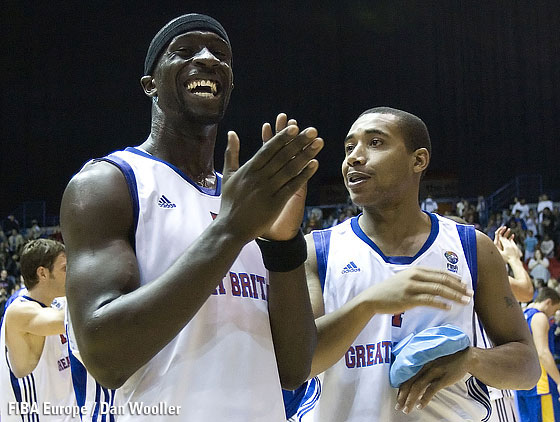 Jarrett Hart and Pops Mensah-Bonsu celebrating