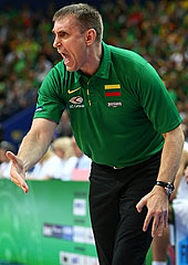 Lithuania Head Coach Kestutis Kemzura