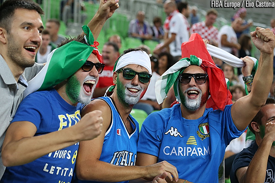 Italy fans in Stozice Arena