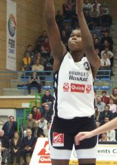 6 points and 5 rebounds in her limited 9 minutes of playing time: Center Sandra Dijon (Bourges)