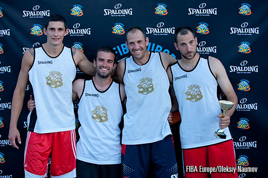 Cedevita Statist - winners of the 2014 3x3 EuroTour Split Event