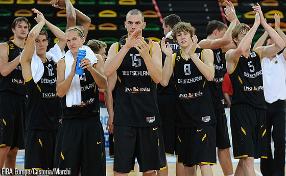 Germany celebrating win over Turkey - U20 European Championship 2011
