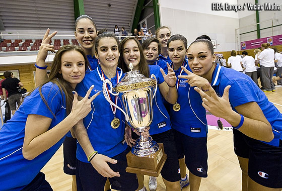 Greece are crowned champions at the 2012 U20 European Championship Women Division B