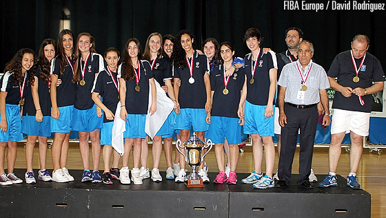 Cyprus are crowned champions at the U16 European Championship Women Division C