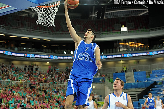 Domagoj Bosnjak going for a lay-up in the U18 All Star Game