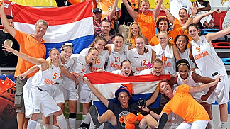 Netherlans celebrating 5th place