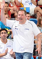 Sweden head coach Per Kallman