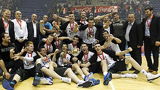 Partizan Belgrade are crowned 2013 champions in Serbia