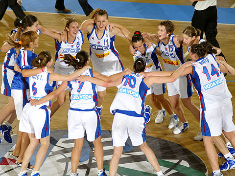 Winner of the U18 European Championship Women 2005: Serbia & Montenegro