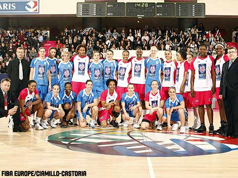 Team Europe and Team Rest of the World at the 2009 EuroLeague Women All Star Game