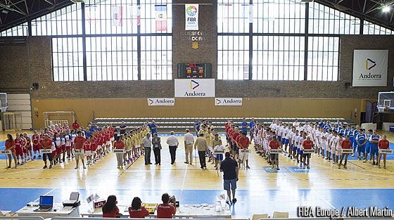Opening ceremony of the U18 European Championship Men and Women Division C