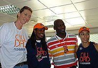 Michael Jordan and Ros Casares players