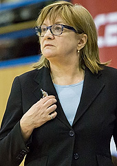 ZVVZ USK Prague head coach Natalia Hejkova