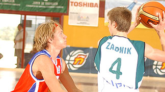 Uros Zadnik (Slovenia) and Boris Sprygin (Russia)