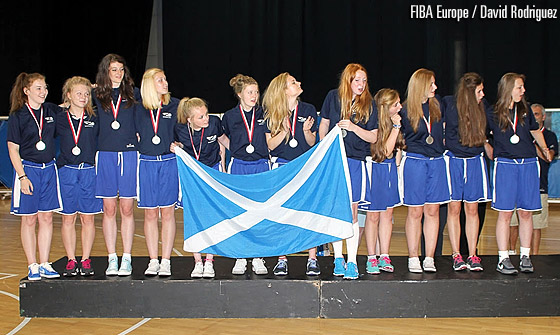 Scotland win silver at the U16 European Championship Women Division C