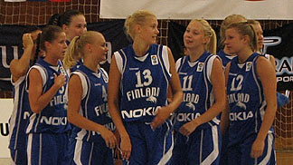 Finland celebrating their victory