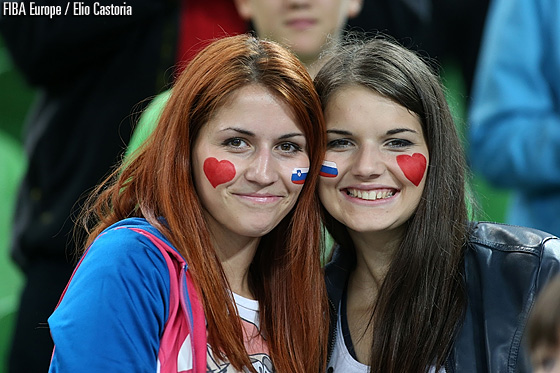 Charming fans at Stozice Arena