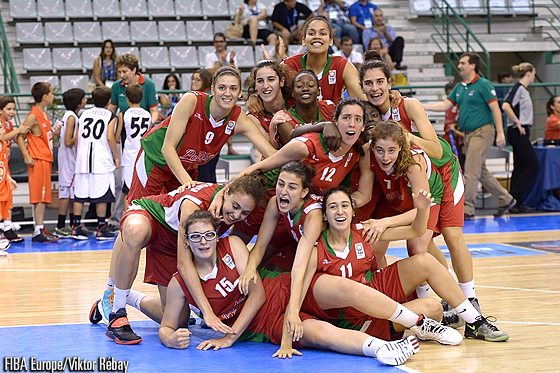 Portugal celebrate their best-ever finish at the U18 European Championship Women